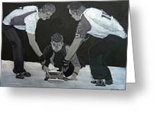 Curling Greeting Card by Richard Le Page