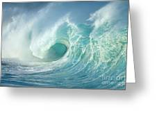 Curling Wave Greeting Card