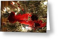 Curly Cardinal Greeting Card