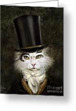 Curmudgeon Cat Greeting Card