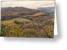 Current River Valley Near Acers Ferry Mo Dsc09419 Greeting Card