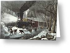 Currier And Ives Greeting Card