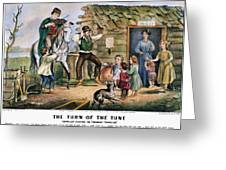 Currier  Ives Folk Tradition Greeting Card by Granger