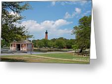 Currituck Lighthouse From Heritage Park Greeting Card
