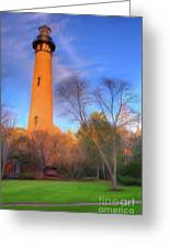 Currituck Lighthouse In Winter Outer Banks Ap Greeting Card