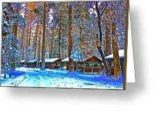 Curry Cabins Christmas Day Greeting Card