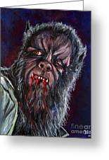 Curse Of The Werewolf Greeting Card