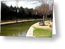 Curve In The Richmond Canal Greeting Card