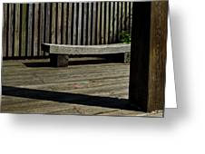 Curved Bench Greeting Card