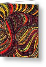 Curved Lines 3 Greeting Card