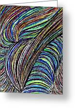 Curved Lines 7 Greeting Card
