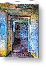 Curved Passageway Greeting Card