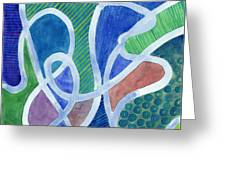 Curved Paths Greeting Card