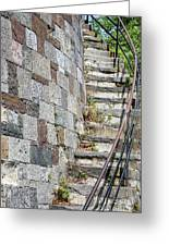 Curved Stone Staircase 235 Greeting Card