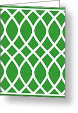 Curved Trellis With Border In Dublin Green Greeting Card