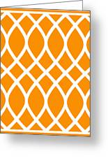 Curved Trellis With Border In Tangerine Greeting Card