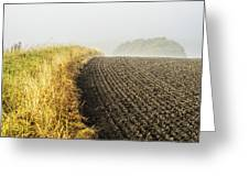 Curves And Fog Greeting Card