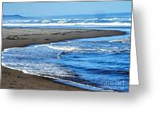 Curves And Waves Greeting Card