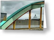Curving Bridge Greeting Card by Dennis Dame