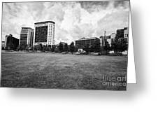 curzon park eastside city park Birmingham UK Greeting Card