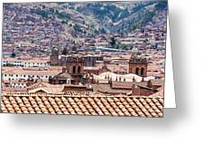 Cusco Cityscape Greeting Card