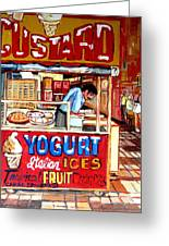 Custard Cart Greeting Card