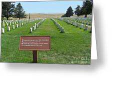 Custer National Cemetery Greeting Card