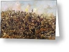 Custer's Last Stand From The Battle Of Little Bighorn Greeting Card