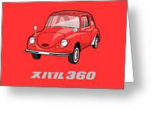 Custom Color Subaru 360 Greeting Card