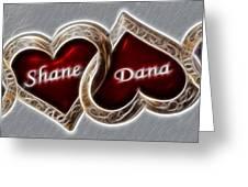 Custom Hearts Greeting Card