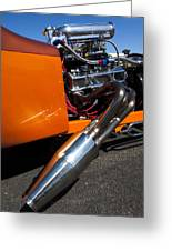 Custom Hot Rod Engine 2 Greeting Card
