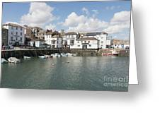 Custom House Quay And Falmouth Parish Church Greeting Card