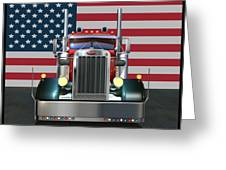 Custom Peterbilt 2 Greeting Card by Stuart Swartz