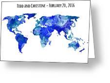 Custom World Map Greeting Card