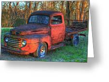 Customized Rust 1949 Ford Pickup Truck Greeting Card