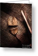 Cut Heart Leaf, Fall Of Love Greeting Card