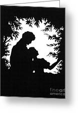 Cut-paper Silhouette Greeting Card
