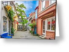 Cute And Colorful European Houses Greeting Card