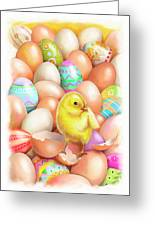 Cute Easter Chick Greeting Card