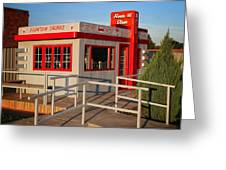 Cute Little Route 66 Diner Greeting Card