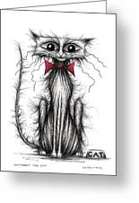 Cuthbert The Cat Greeting Card