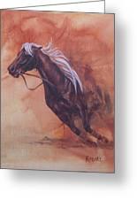 Cutting Horse I Greeting Card