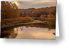 Cuyahoga Valley Autumn Sunset Greeting Card