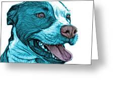 Cyan Bull Fractal Pop Art - 7773 - F - Wb Greeting Card