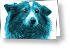 Cyan Shetland Sheepdog Dog Art 9973 - Wb Greeting Card