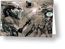Cyborg Greeting Card