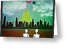 Cyborg Townies Greeting Card