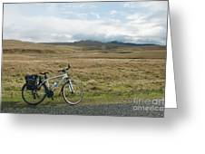 Cycle Across The Beacons Cycle Route. Greeting Card