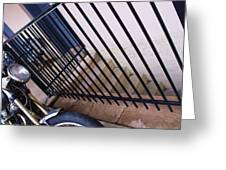 Cycle And Stairs I Greeting Card
