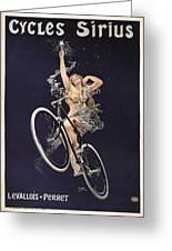 Cycles Sirius - Paris 1899 Greeting Card